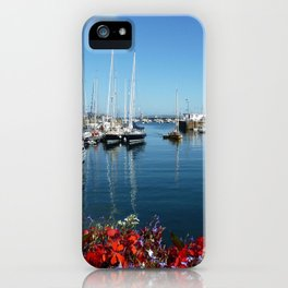 St Peter Port Harbour iPhone Case