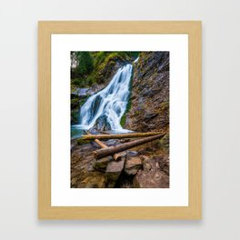 Cascada Valul Miresei, Romania Framed Art Print