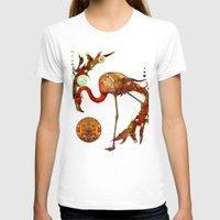 flamingos T-shirts featuring Flamingos by Waelad Akadan