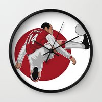 arsenal Wall Clocks featuring Thierry Henry by siddick49