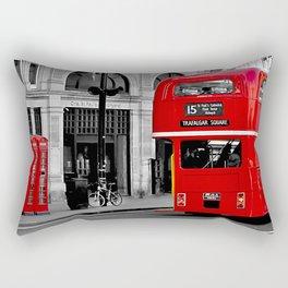London Bus & Telephone Boxes. Rectangular Pillow