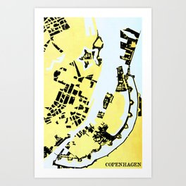 COPENHAGEN (MAPSTAT SERIES) Art Print
