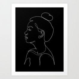 minimal line art - profile Art Print