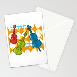 Sunny Grappelli String Jazz Trio Composition Stationery Cards