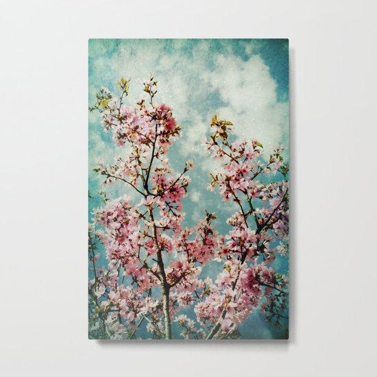 Blossom Pink Vintage Metal Print