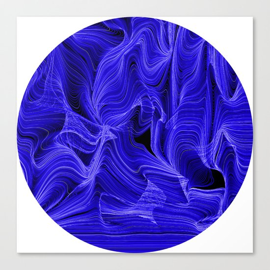 Midnight Blue Mist Canvas Print