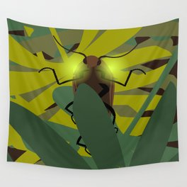 Aglow: headlight click beetles  Wall Tapestry