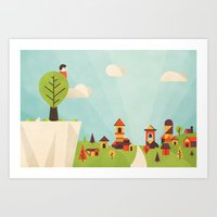 Zacchaeus (by Dominic Flask) Art Print