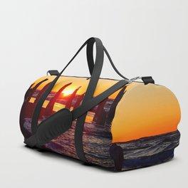 Stunning sunset through the sticks Duffle Bag