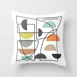 Mid-Century Pattern No. 130 Throw Pillow