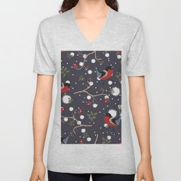 Bird and Berry Unisex V-Neck