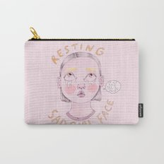Resting Sad Girl Face Carry-All Pouch