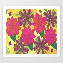 Bohemian Floral Garden Print Art Print