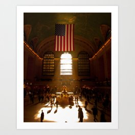 Grand Central Morning Rays Art Print