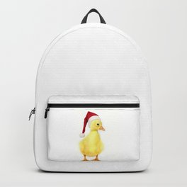 Cute  newborn gosling with a Santa's cap Backpack