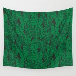Elephant Ear house plant tropical garden green minimal pattern Wall Tapestry