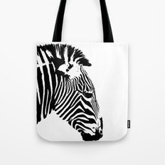 Zebra Portrait Tote Bag