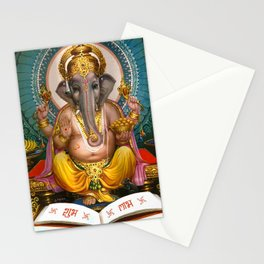 Lord Ganesha Hindu Oriental Art Spiritual Buddhism Yoga Stationery Cards