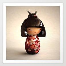 Kokeshi 02 Art Print