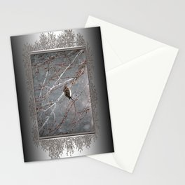 Mourning Dove Asleep in Snowfall Stationery Cards