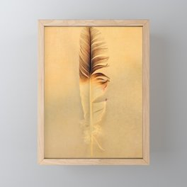 FEATHER PHOTOGRAPHY, FEATHER NATURE PHOTO WALL ART, BIRD FEATHER PRINT Framed Mini Art Print
