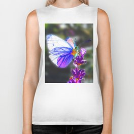 Butterfly on the Lavender Biker Tank