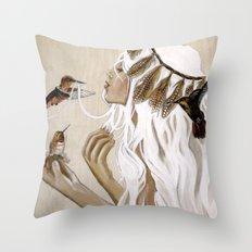 Humming Throw Pillow