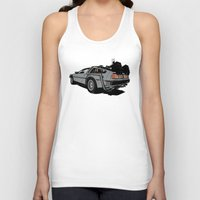 delorean Tank Tops featuring DeLorean by CranioDsgn