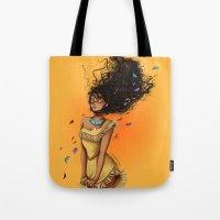 pocahontas Tote Bags featuring Pocahontas by C. Cassandra