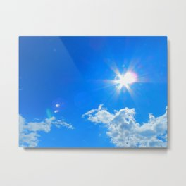 Sun, clouds Metal Print