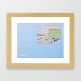 Get in the van.  Framed Art Print