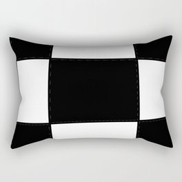 square clock-square,fun,black,red,white,psychedelic,crazy,relativity Rectangular Pillow