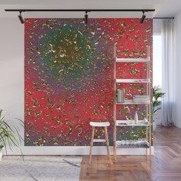 Golden Rain Red-Gren-Lila Wall Mural