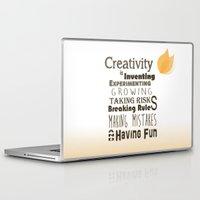 creativity Laptop & iPad Skins featuring Creativity by TeaTimeAdventure