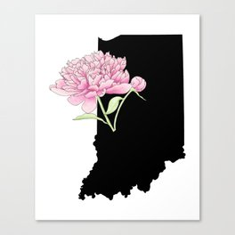Indiana Silhouette Canvas Print