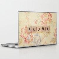 aloha Laptop & iPad Skins featuring Aloha by Christine Hall