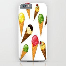 Ice cream-White iPhone Case