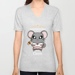 Dungeons & Mice Cleric T Shirt Unisex V-Neck