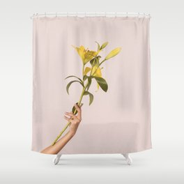 Excuse me while I hold my lilies Shower Curtain