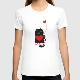 Cats with hearts T-shirt