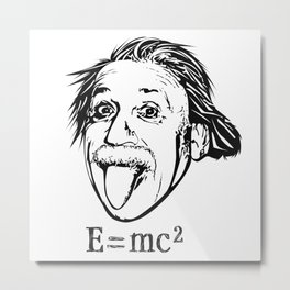 Albert Einstein With E=mc2 Metal Print