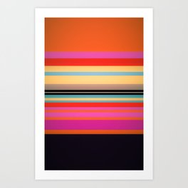 Sunset Stripes Art Print