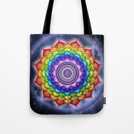 Open Crown Chakra - Rainbow Colors Tote Bag