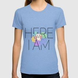 Here I Am - Flower Pup T-shirt