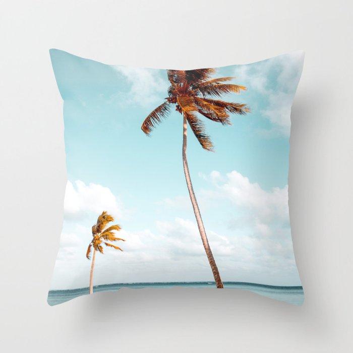 Dominican Republic Palm Beach Throw Pillow