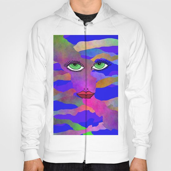 Eyes and Lips Colorful Hoody