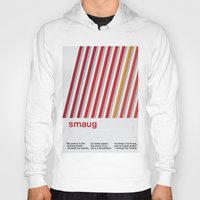 smaug Hoodies featuring Smaug - Swiss Style Minimalism by Frank JE Flitton