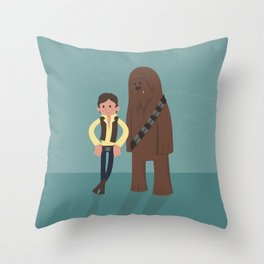 Han & Chewie, The Rogues Throw Pillow