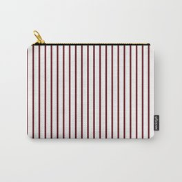 Royal Rose Red Pinstripe on White Carry-All Pouch