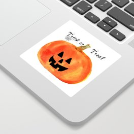 Trick or Treat Jack-O-Lantern, Halloween Pumpkin Sticker